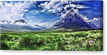 Majestic Highlands Canvas Print by Wendy White