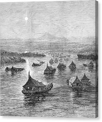 Malaya: Perak River, 1876 Canvas Print by Granger