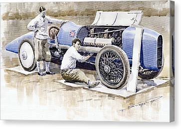 Malcolm Campbell Sunbeam Bluebird 1924 Canvas Print by Yuriy  Shevchuk
