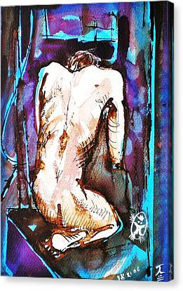 Male Nude Canvas Print by Ion vincent DAnu