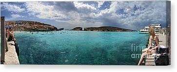 Malta Mediterranean Beach Canvas Print by Guy Viner