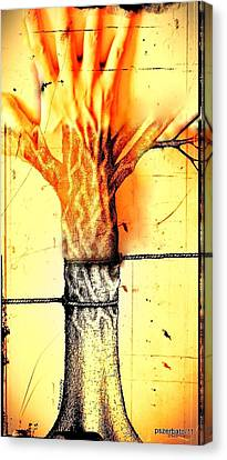 Man Suffers What Made Others Suffer Canvas Print by Paulo Zerbato