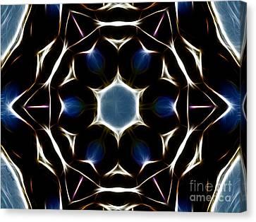 Mandala Star Canvas Print by Cheryl Young