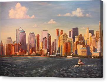 Manhattan  Nyc Canvas Print by Dan Fusco