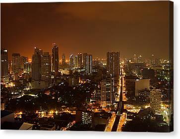 Manila City 02 Canvas Print by Arj Munoz