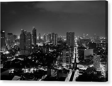 Manila Skyline Canvas Print by Arj Munoz