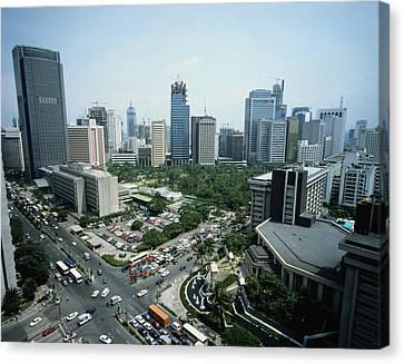 Manila Skyline Canvas Print by John Wang