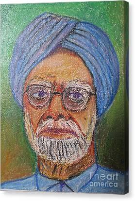 Manmohan Singh Canvas Print by Nedunseralathan R