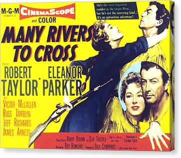Many Rivers To Cross, Eleanor Parker Canvas Print by Everett