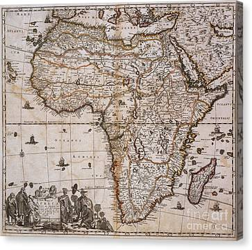 Map Of Africa, 1688 Canvas Print by Photo Researchers