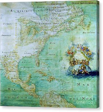Map Of America  Canvas Print by Pg Reproductions