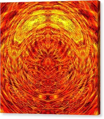 Maple Sunset Mandala Canvas Print by Richard Jones