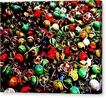 Marbles - Electric Canvas Print by Wingsdomain Art and Photography