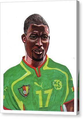 Marc Vivien Foe Canvas Print by Emmanuel Baliyanga