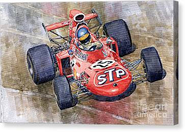 March 711 Ford Ronnie Peterson Gp Italia 1971 Canvas Print by Yuriy  Shevchuk