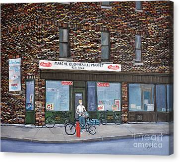 Marche Quenneville Pointe St. Charles Canvas Print by Reb Frost
