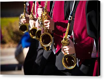 Marching Band Saxophones  Canvas Print by James BO  Insogna
