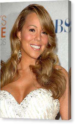 Mariah Carey In The Press Room Canvas Print by Everett