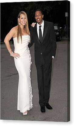 Mariah Carey Wearing A Georges Chakra Canvas Print by Everett