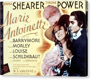 Marie Antoinette, Norma Shearer, Tyrone Canvas Print by Everett