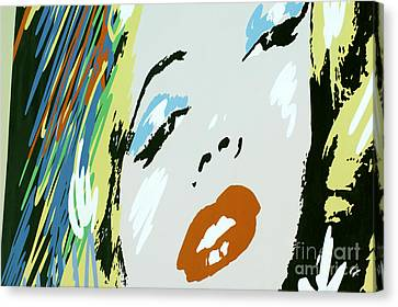 Marilyn In Hollywood Canvas Print by Micah May