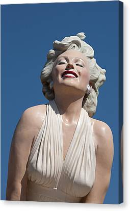 Marilyn In The Sun Canvas Print by Matthew Bamberg