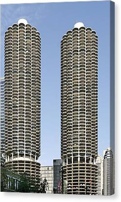 Marina City Chicago - Life In A Corn Cob Canvas Print by Christine Till