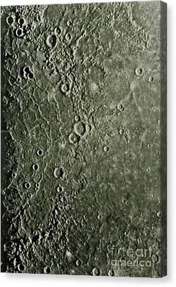 Mariner 10 Mosaic Of Mercury Showing Canvas Print by NASA / Science Source