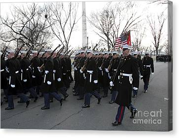 Marines Participate In The 2009 Canvas Print by Stocktrek Images