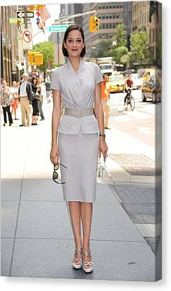 Marion Cotillard Wearing A Dior Suit Canvas Print by Everett