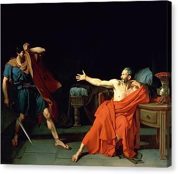 Marius At Minturnae Canvas Print by Jean-Germain Drouais