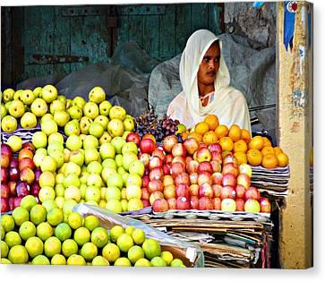 Market Of Djibuti-3 Canvas Print by Jenny Senra Pampin
