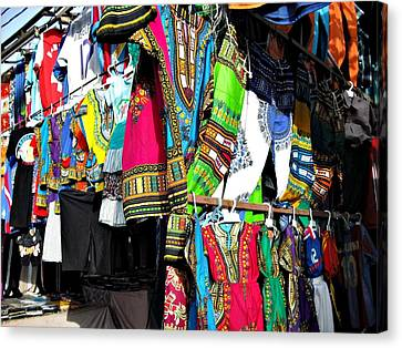 Market Of Djibuti With More Colors Canvas Print by Jenny Senra Pampin