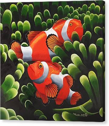 Marlin And Nemo Canvas Print by Rehana Farooqi
