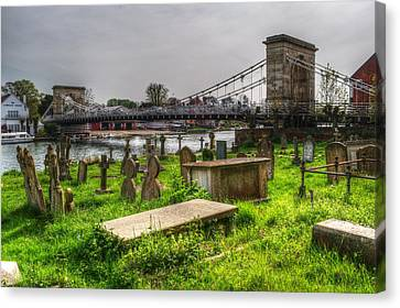Marlow Bridge From All Saints Graveyard Canvas Print by Chris Day