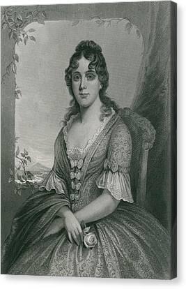 Martha Jefferson Randolph 1772-1836 Canvas Print by Everett