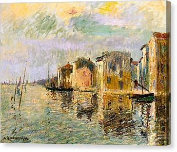 Martigues In The South Of France Canvas Print by Gustave Loiseau