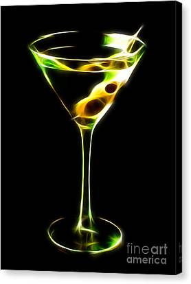 Martini Electrified Canvas Print by Wingsdomain Art and Photography