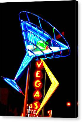 Martini Vegas Canvas Print by Randall Weidner
