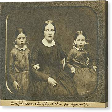 Mary Ann Brown 1817-1884, The Second Canvas Print by Everett