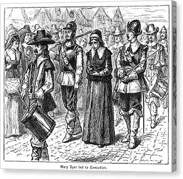 Mary Dyer, D.1660 Canvas Print by Granger