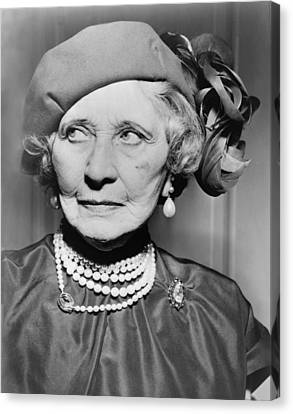 Mary Garden 1874-1967, At The Age Of 80 Canvas Print by Everett