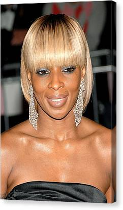 Mary J. Blige At Departures For Annual Canvas Print by Everett