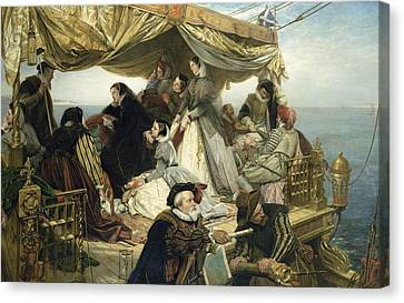 Mary Stuart's Farewell To France Canvas Print by Henry Nelson O Neil