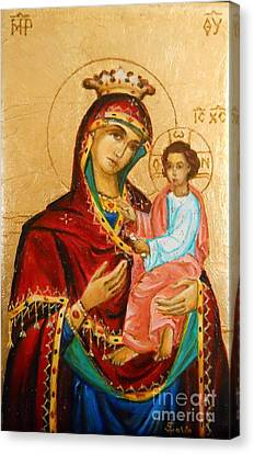 Mary With Jessus R.3 Canvas Print by Sorin Apostolescu