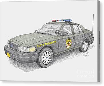 Maryland State Police Car 2012 Canvas Print by Calvert Koerber
