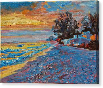 Masasota Key Sunset Canvas Print by Thomas Bertram POOLE