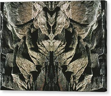 Masked Rock God Of Ogunquit  Canvas Print by Nancy Griswold