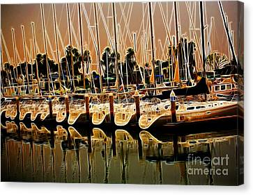 Masts Canvas Print by Cheryl Young