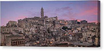 Matera Skyline Canvas Print by Michael Avory